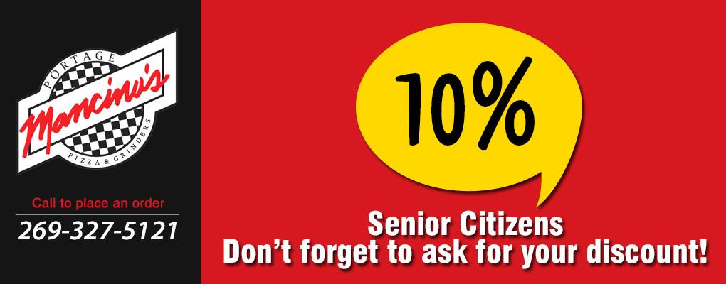 Senior Citizen 10% Discount